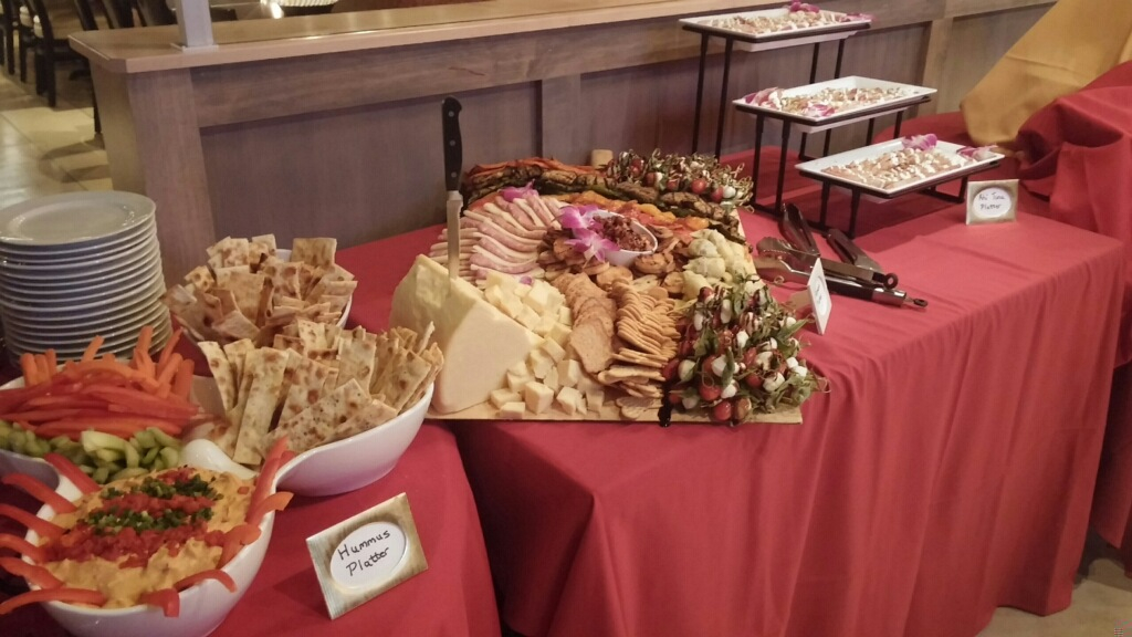 hummus and appetizer station